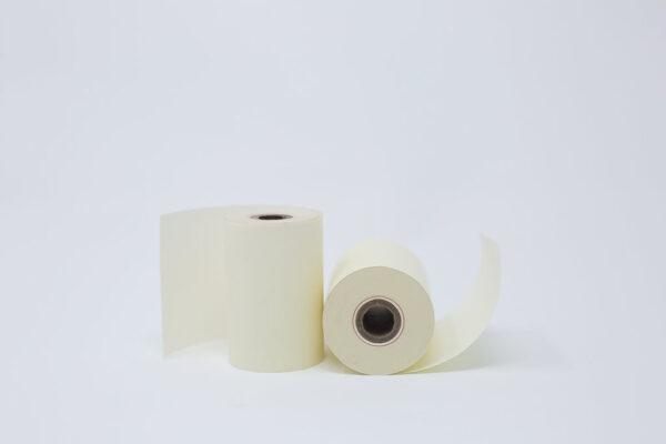 """2 1/4"""" x 80' Alpha Free, Phenol Free Roll Paper - 1/2""""ID - 50 rolls/case"""